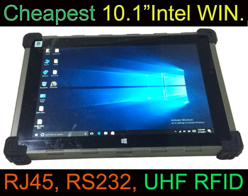 CHEAPEST Intel Atom Cherry-Trail Z8350 Quad-core 3G/4G GPS UHF RFID Rugged Windows Tablet 10 inch