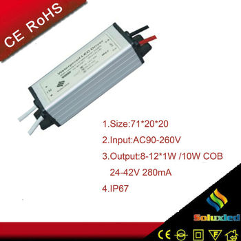 8-12*1w/10w COB current constant led driver waterproof case