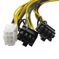 "PCIE 6 Pin ""Y"" Split to Two PCIE 2.0 8(6+2) Pin Cable PCI-Express 2.0 Power Adapter Y Splitter Cable"