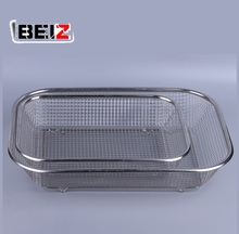 Food Grade Kitchen Hosehold Stainless Steel Rectangle Fruit And Vegetable Mesh Basket