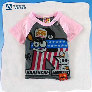 children's lovely t-shirt raglan sleeve child t-shirt kids clothes children custom design