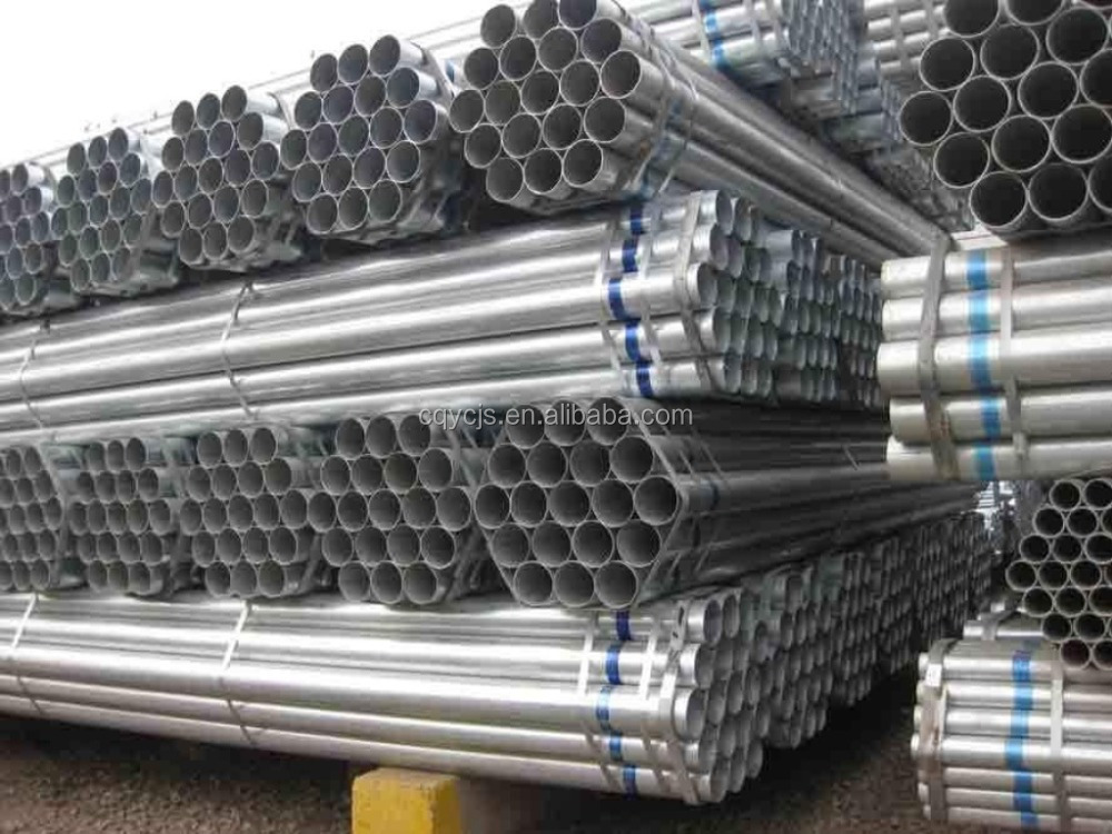 zinc coated steel pipe fence post galvanized steel pipe price