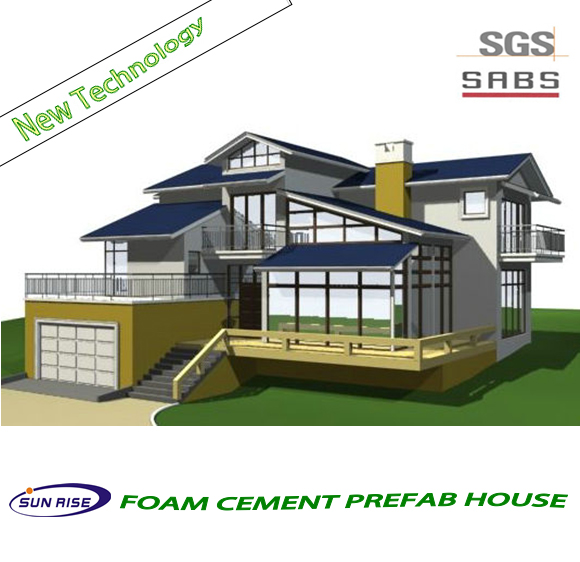 Enviromental Friendly construction building prefab house for europe