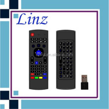 Dual Side mx3 2.4g mini fly air gyro mouse wireless keyboard with IR Remote Controller