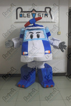 blue car transformer mascot costumes cartoon police car mascot costumes