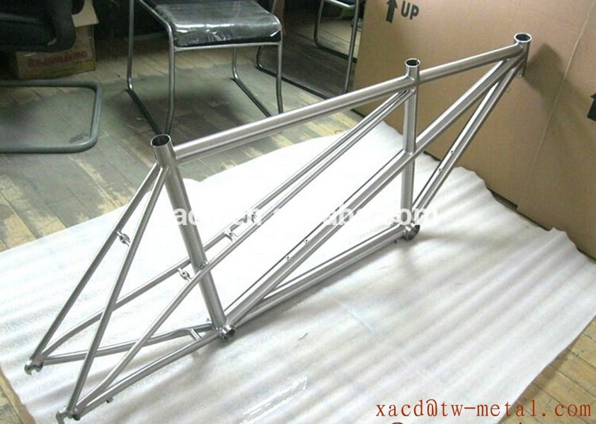 High Quality Super Light Custom Titanium Tandem Road Bike Frame with double seat tube bike Ti tandem bicycle frame