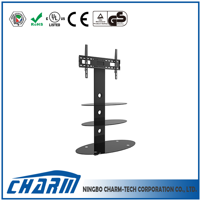 Simple tv stand with black aluminum tube, living room furniture tv stand