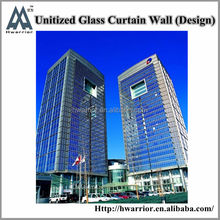 Hwarrior Guangzhou Aluminum Frame,Glass,Accessories Aluminium And Glass Curtain Wall
