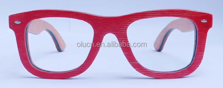 multi-layer wood sunglasses red frame polarized lens with spring hinge popular sunglasses