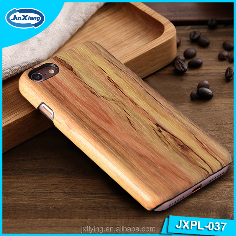 Protective Blank Wood Mobile Phone PC Leather Back Case Cover for iPhone 6 6s 7 Wooden Phone Case for iPhone 8