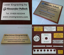 engraving metal fire extinguisher sign plates