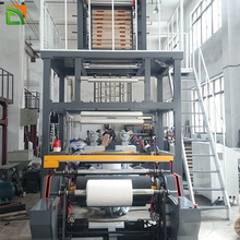 3 Layer Mini Stretch HDPE LDPE PE Film Extruder Agriculture Polyethylene ABA Plastic Film Blowing Machine