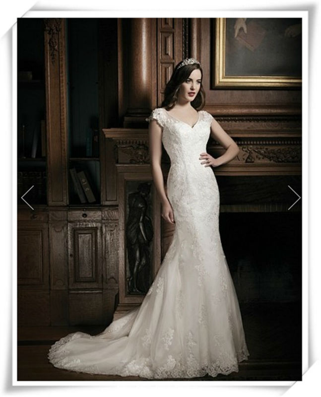 A-line Wonderful Expensive lace Maggie designer shanghai wedding dress