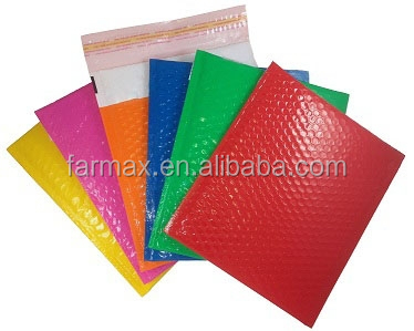 2015 Farmax Wholesale metallic foil jiffy bubble mailers 7 colors for your choice