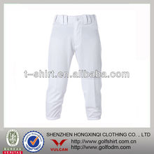 White Color 100% Polyester Profession Mens Baseball Pants
