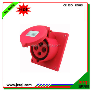 4 pole 3P+E 32A Industrial female hide inclined coupler