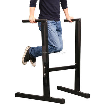 Heavy Duty Home Gym Dip Station Stand Parallel Bar Fitness Workout Black