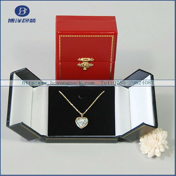 high quality paper jewelry box necklace hooks
