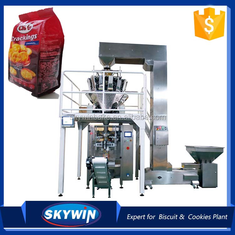 Automatic Multihead Weigher Weighing V.F.F.S Biscuit Packing Machine