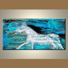 Wholesale modern colorful abstract acrylic horse paintings on canvas