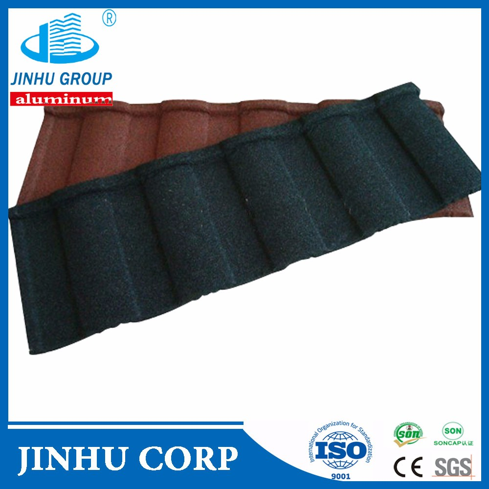 JINHU color stone coated metal roofing Roman tile