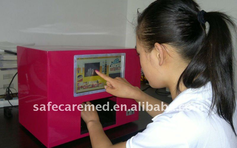 Promotion Item Digital Nail Printer ,Built-in PC,Full touch screen,5 nails one time,New Software preload.