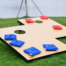 Cornhole bean bag toss game with sand bag outdoor game
