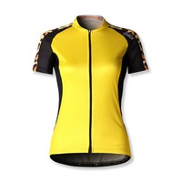 fast delivery high quality cycling wear cool design yellow pro cycling shorts for women