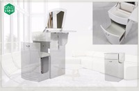 white mirror foldable dressing table make up furniture