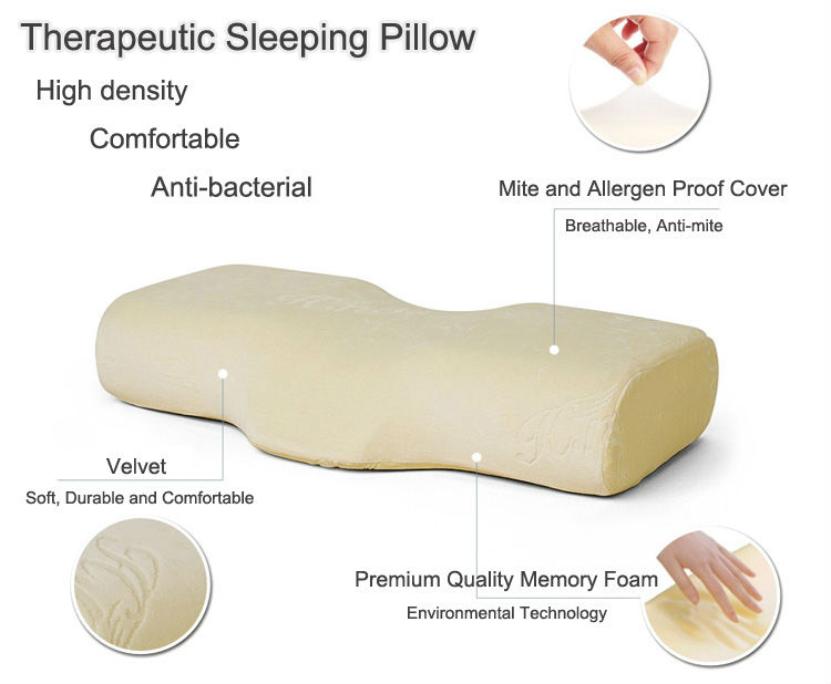 Growth Head Anti Slip Decorative Ergonomic Head Neck Position Eyelash Extension Lash Memory Foam Pillow