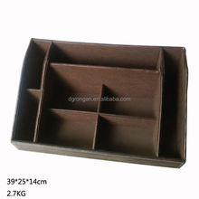 Large faux leather desk organizer for office A09-20150814