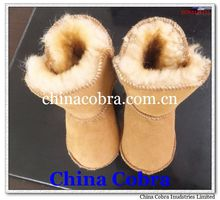 soft sole leather baby winter boots sheepskin boots 2014