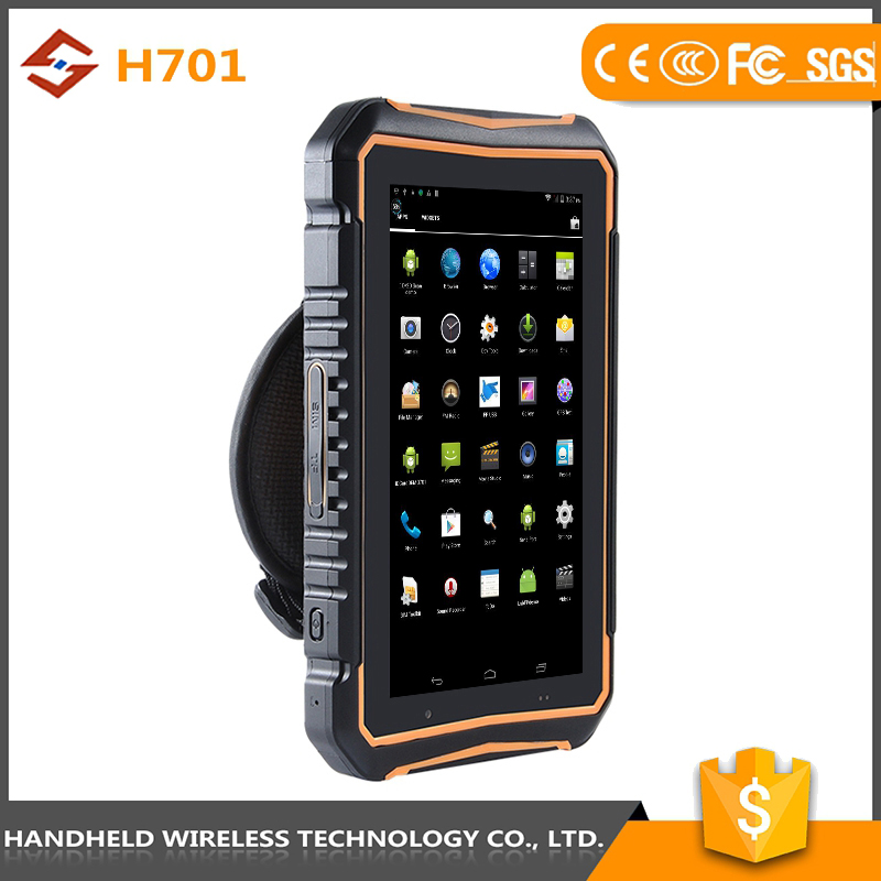 brilliant quality 7intch rugged handheld wireless ip 65 android 4.4.2 rfid reader gsm mobile phone scanner