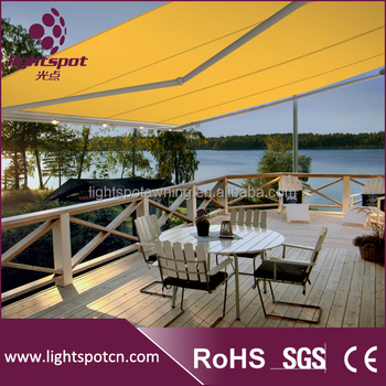 Acrylic terraces retractable canopy