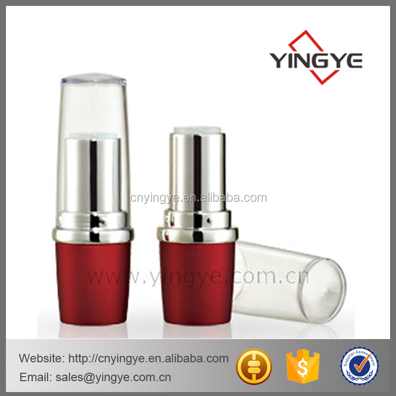 clear cap recycled lipstick tube cosmetic packaging