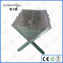 wood stove camping equipment stainless steel height adjustable charcoal bbq grill rotisserie