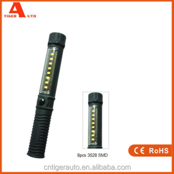 2016 wholesale Dry Battery Magnetic LED 8pcs SMD inspection light with clip