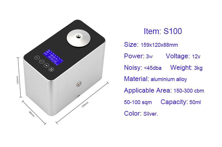 Newest design mini electric 50ml aroma oil scent diffuser for household