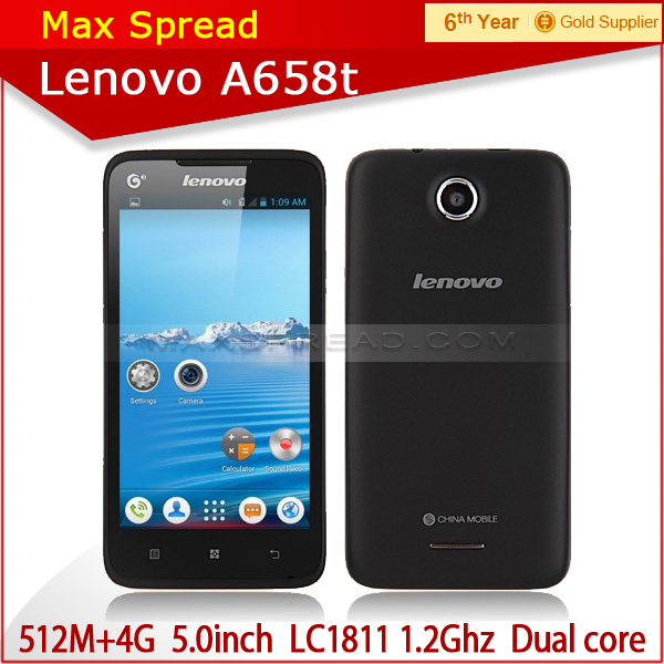 Original Lenovo A658t Smartphone Android 4.0 5 Inch GPS Dual Core smart mobile cell phone