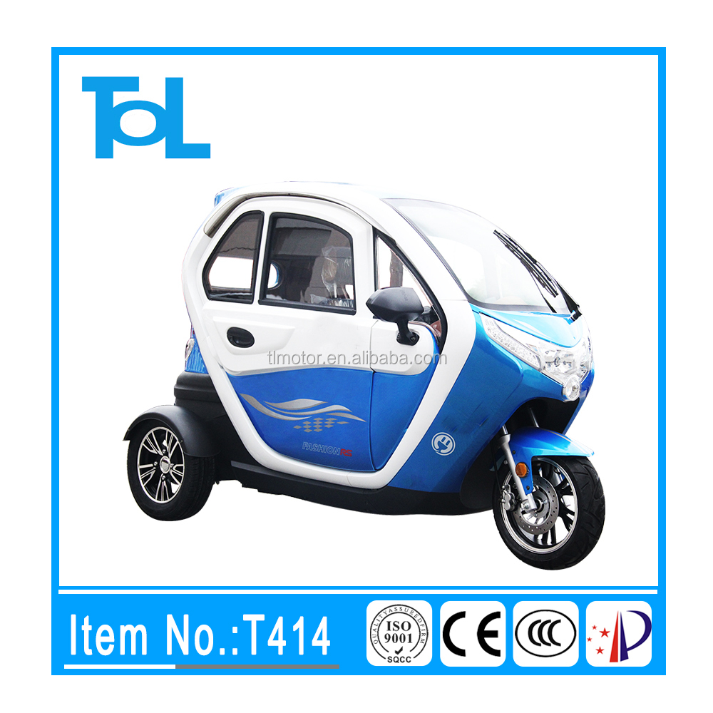 3 Wheel fully closed Mini Handicapped adult electric scooter with roof