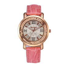 Fancy Ladies Fashion OEM Creative Flowing Crystals Watch New Women Quartz Wrist Watches