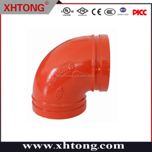 Shandong FM UL listed grooved connection with multifunctions 90 degree elbow
