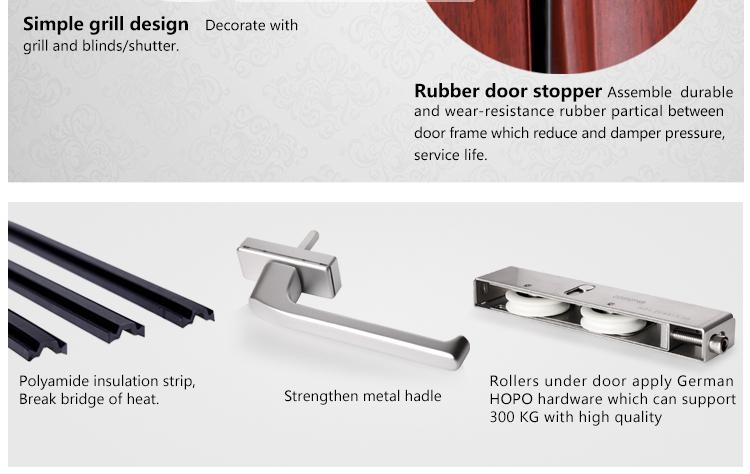 Rogenilan 80 series air tight veranda sliding door buy for Salt air resistant door hardware