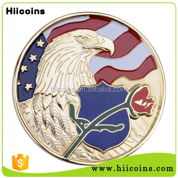 Free Sample High Quality Souvenir Coin Custom Metal Die Casting Gold Plated Coin