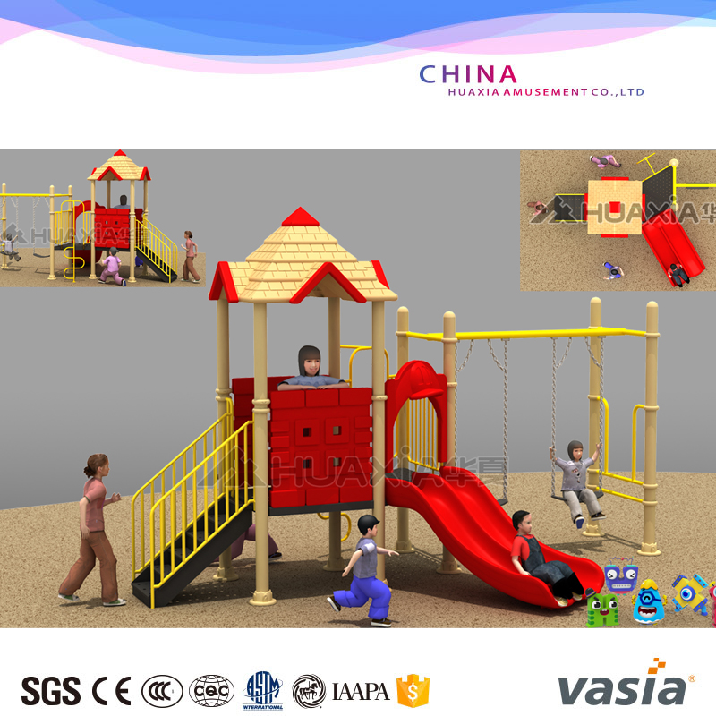 high quality children play slide outdoor playground
