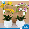 Home Decoration White/Yellow Orchid Artificial Flower Arrangements