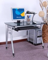2015 simple executive glass office table metal office table with glass top