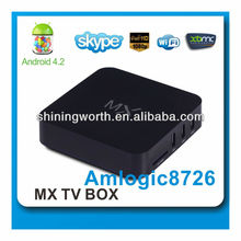 android 4.2 dual core aml8726 mx smart tv box