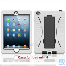 heavy duty shock proof case cover for mobile phone/tablet, kickstand PC silicon case for ipad mini 4
