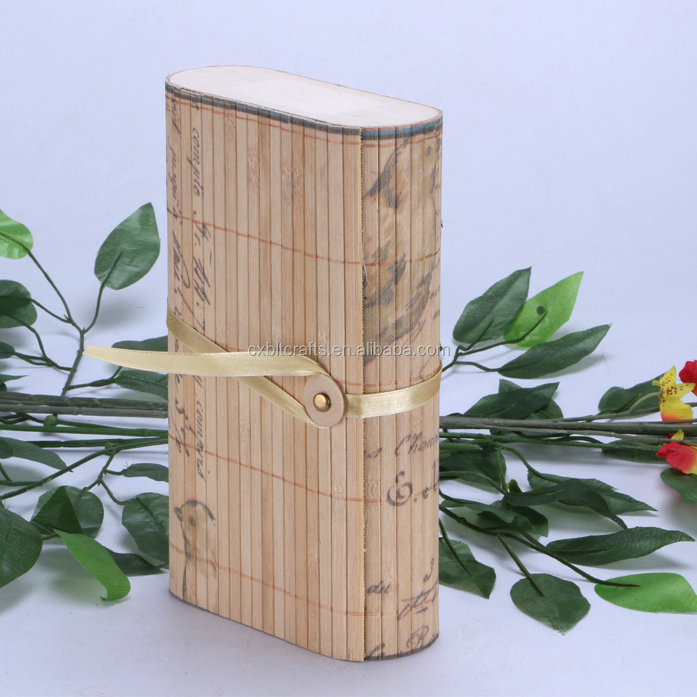 2016 custom packing box wholesale gift box bamboo curtain box